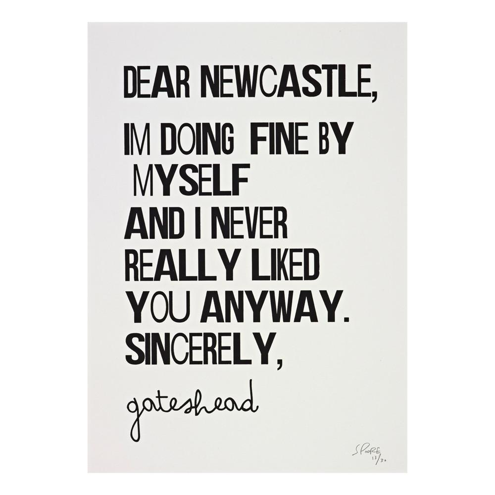 Dear Newcastle Framed Print