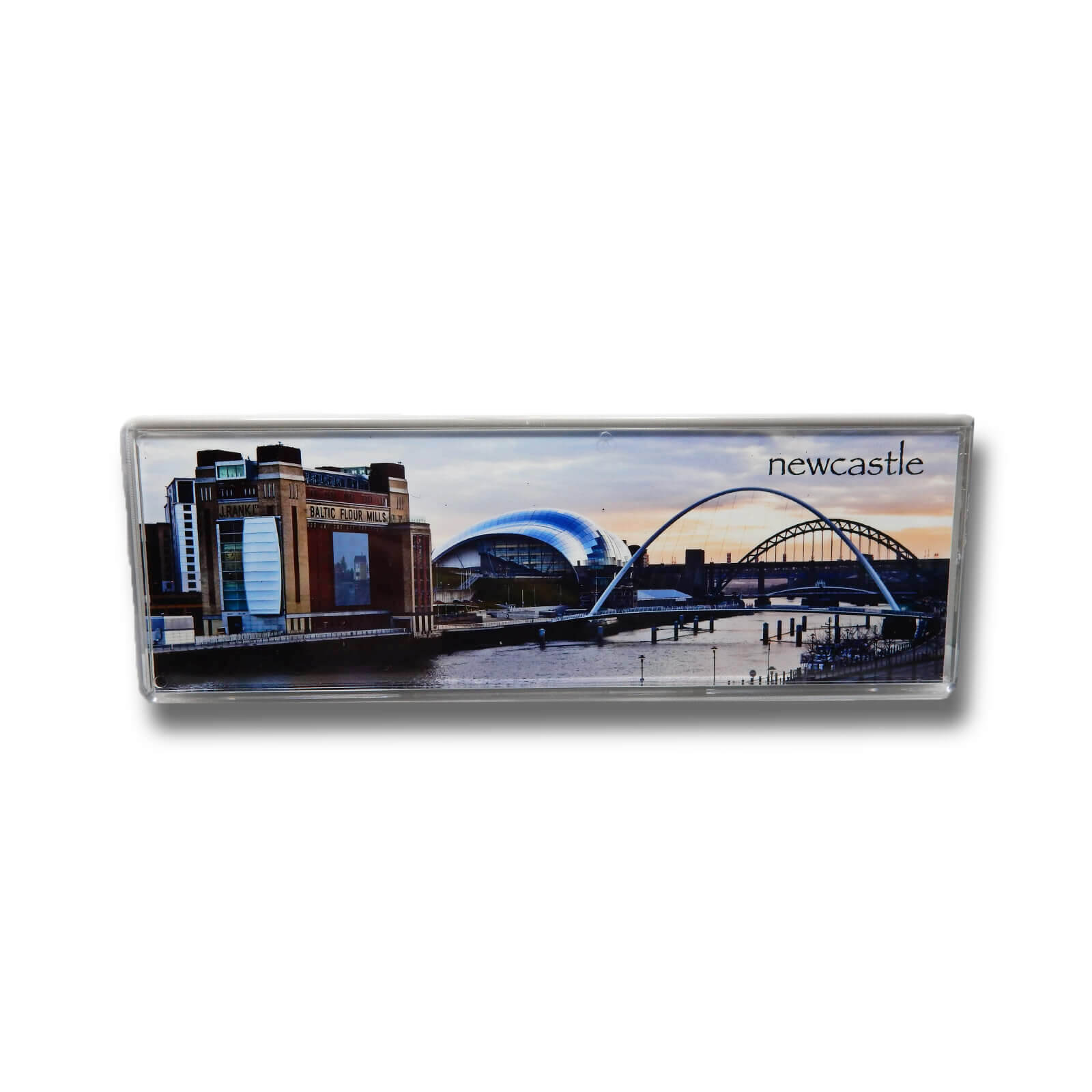 Millennium Bridge & River TynePanoramic Photo Magnet
