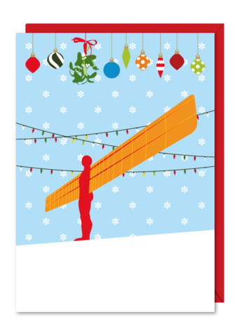 6 Pack Christmas Cards Angel of the North
