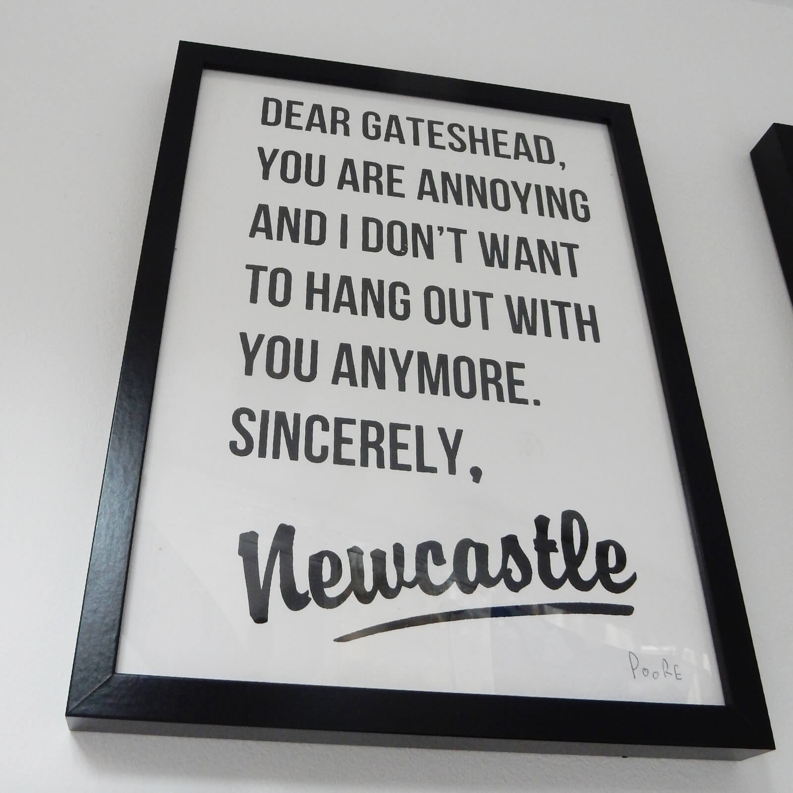 Dear Gateshead Framed Print