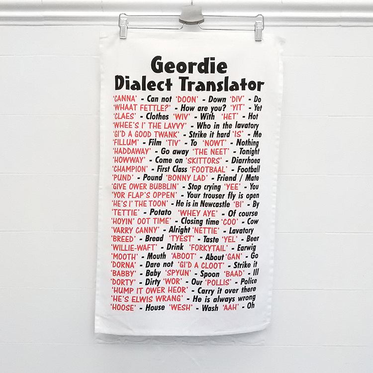 Geordie Dialect Tea Towel