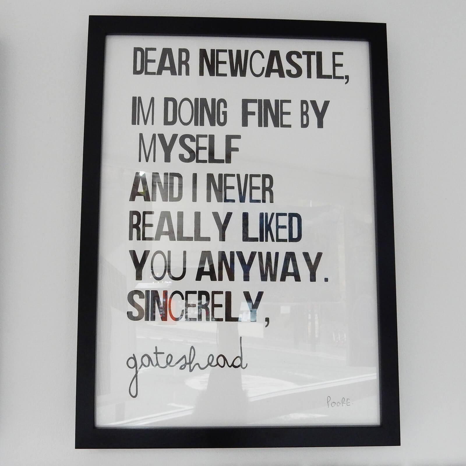 Dear Newcastle Framed Print