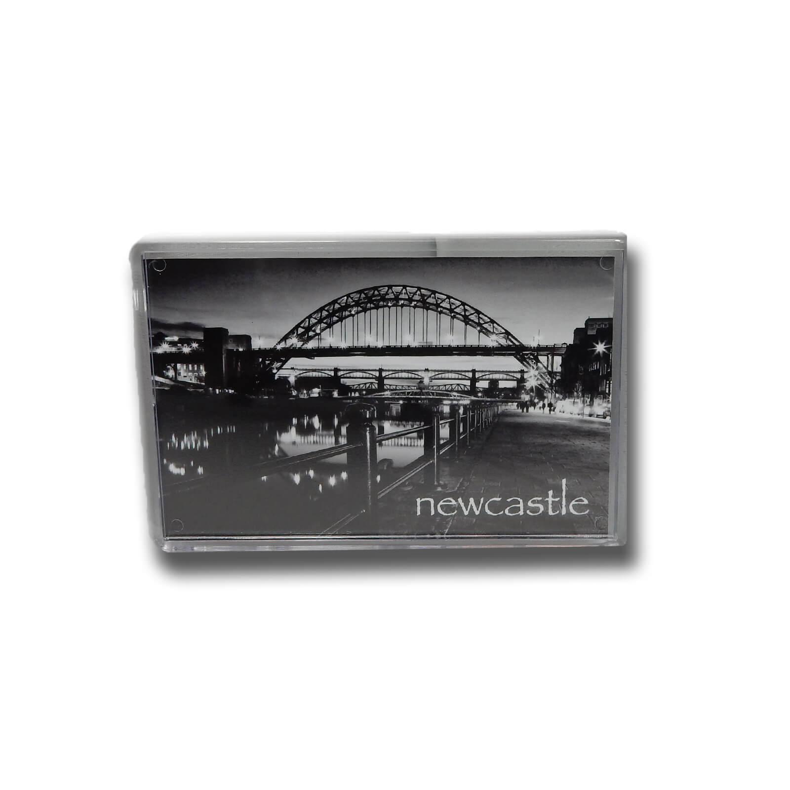 Tyne Bridge Black & White Photo Magnet