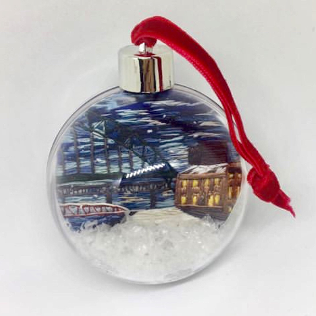 Quayside Shaker Christmas Bauble