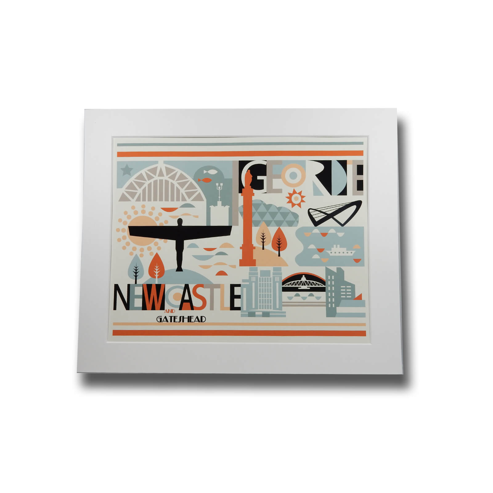 Newcastle and Gateshead Print (Wot Ma Like)