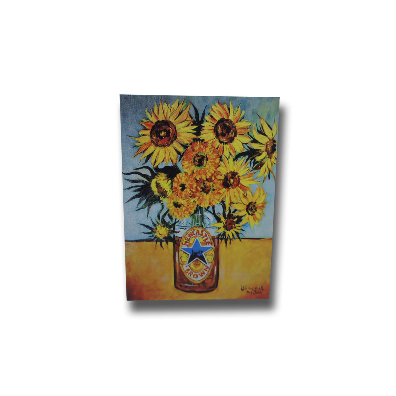 Sunflowers Brown Ale Premium Magnet