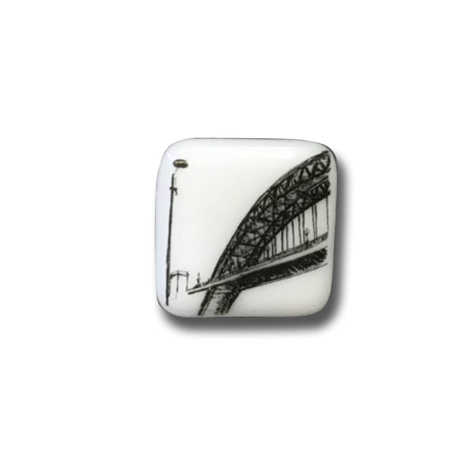 Tyne Bridge Glass Brooch
