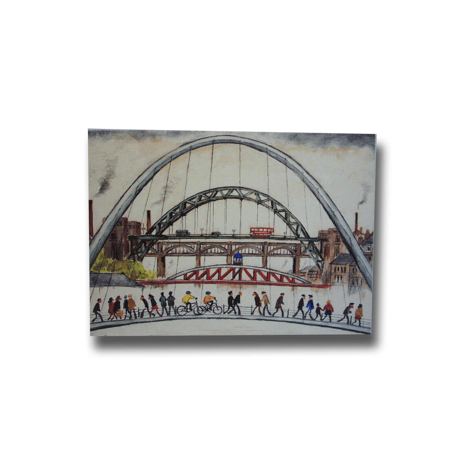 Lowry Style Tyne Bridges Premium Magnet
