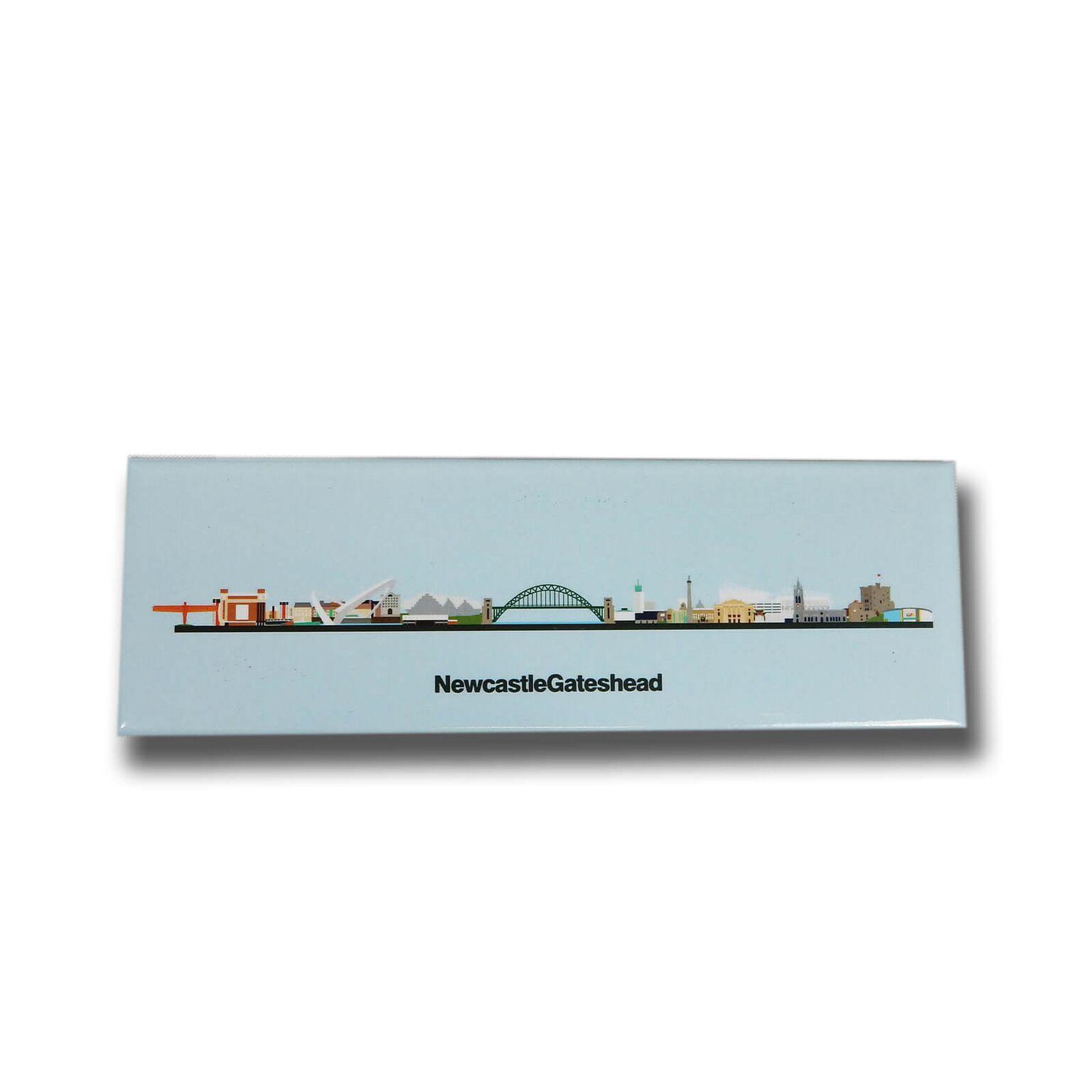 Newcastle & Gateshead Skyline Illustrated Panoramic Magnets