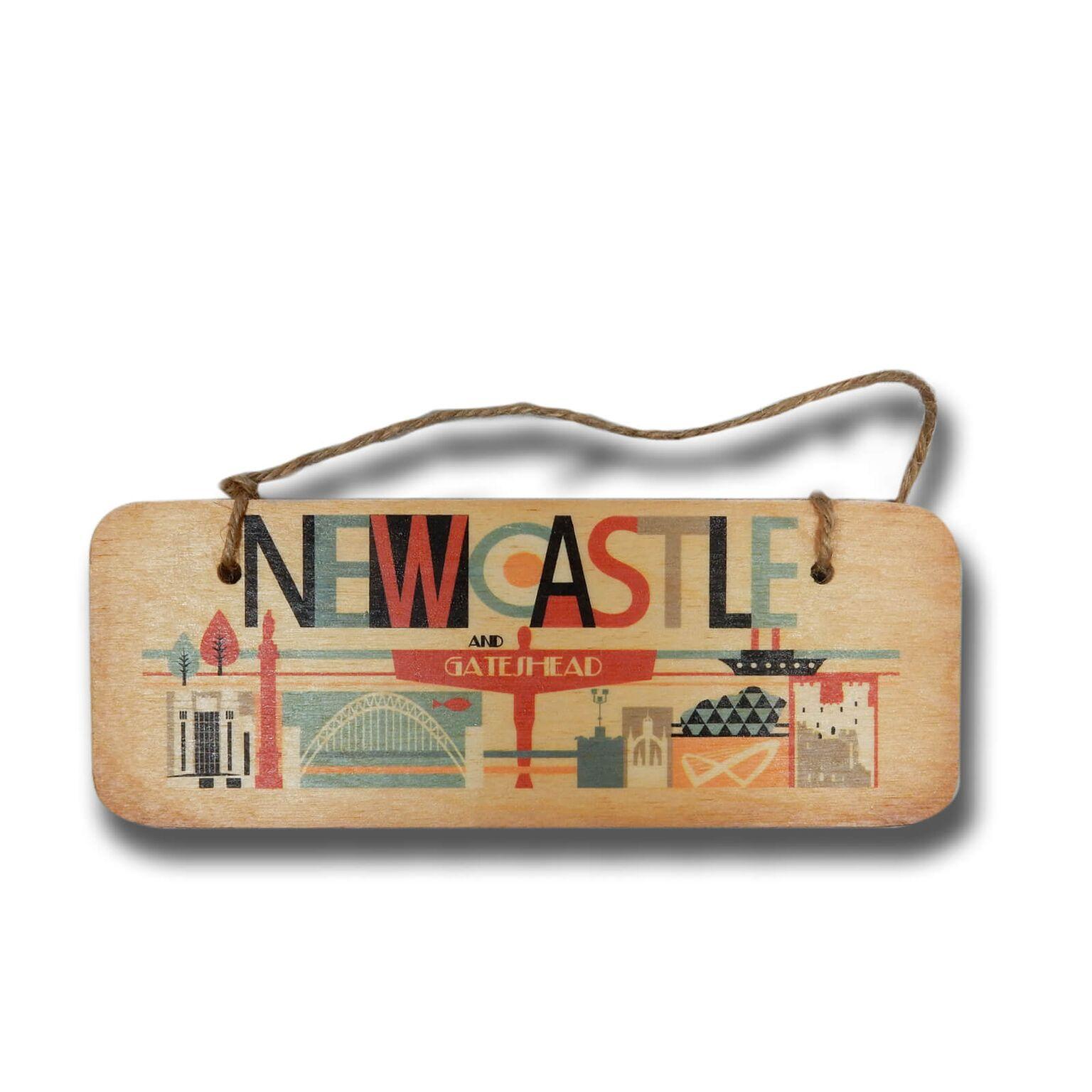 Newcastle & Gateshead Illustrated Plaque