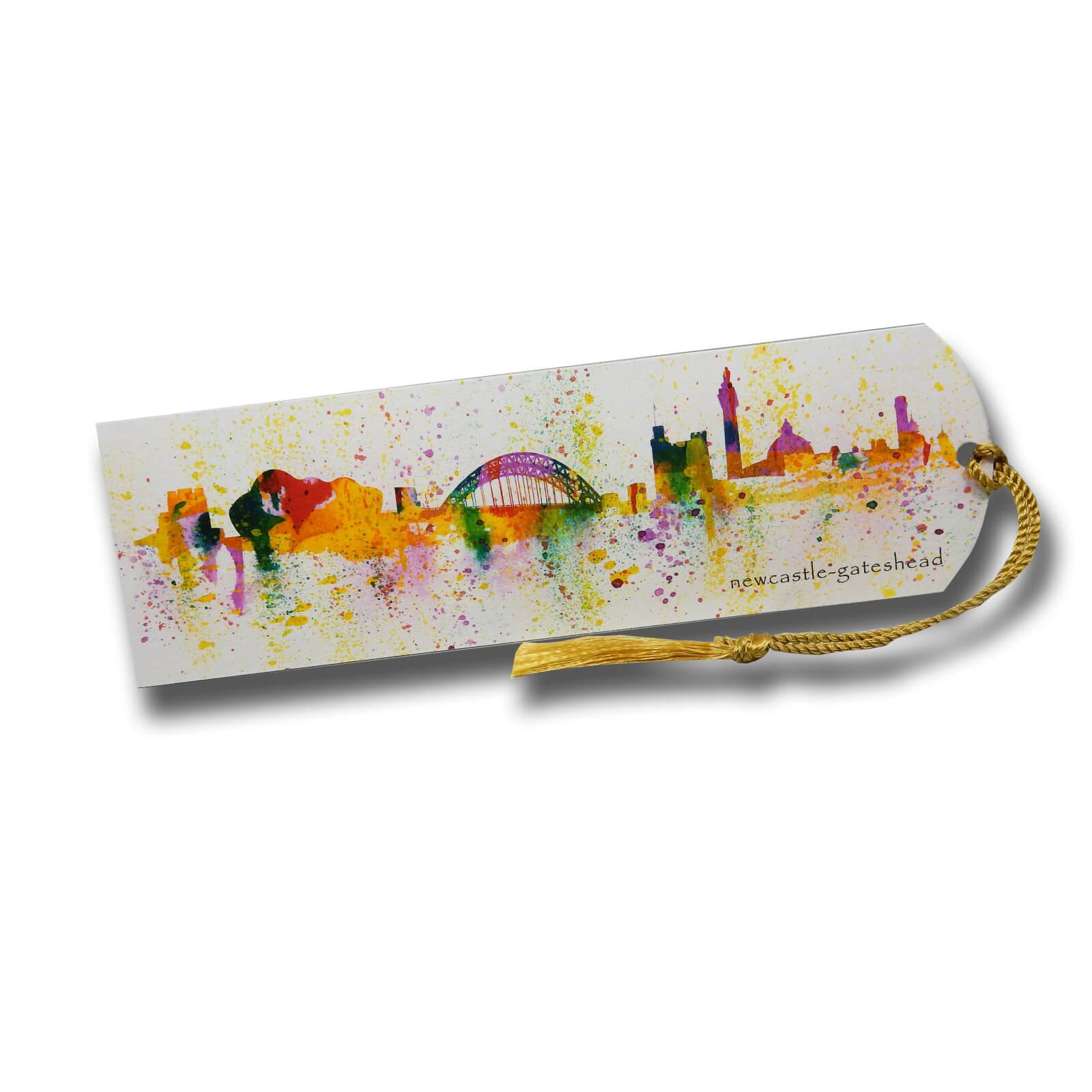 Splash of Toon Newcastle Skyline Illustrated Bookmark