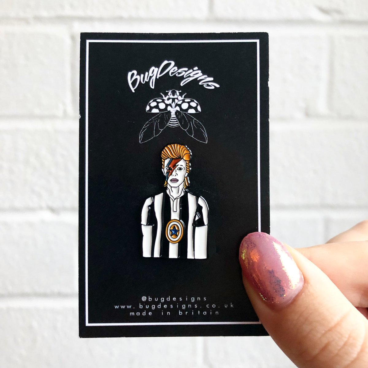 David Bowie NUFC Pin Badge