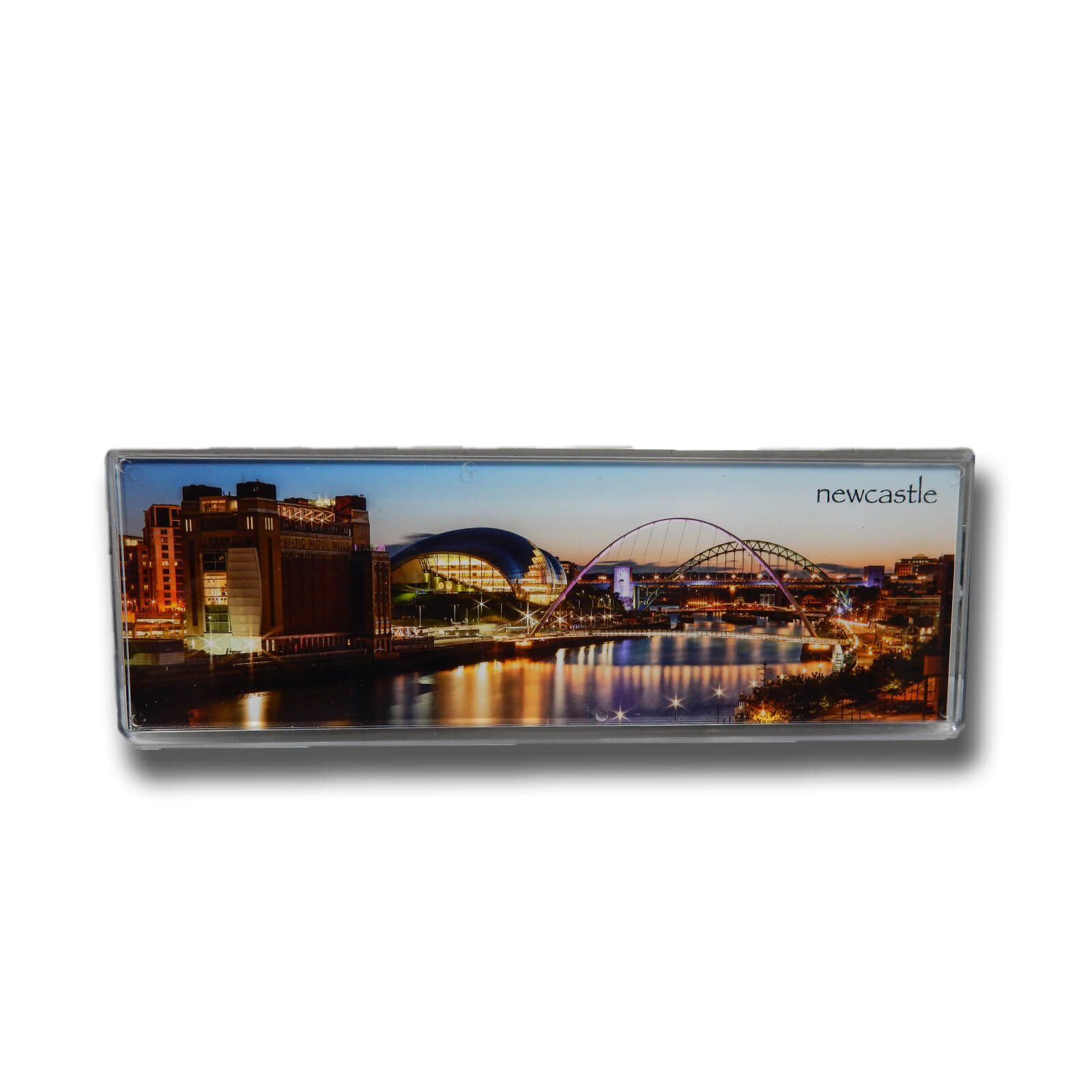 River Tyne & Bridges at Sunset Panoramic Photo Magnet
