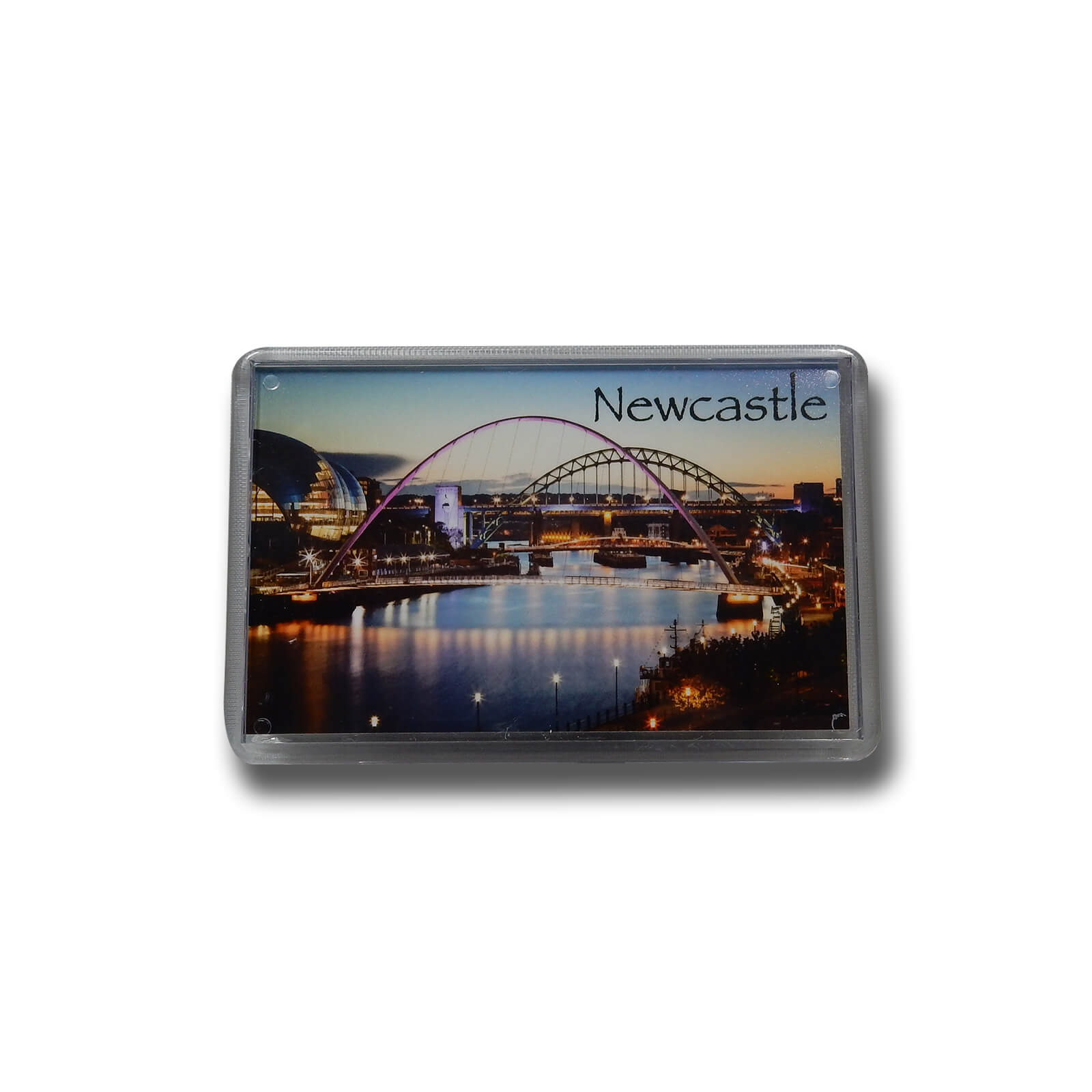 River Tyne & Bridges at Sunset Photo Magnet