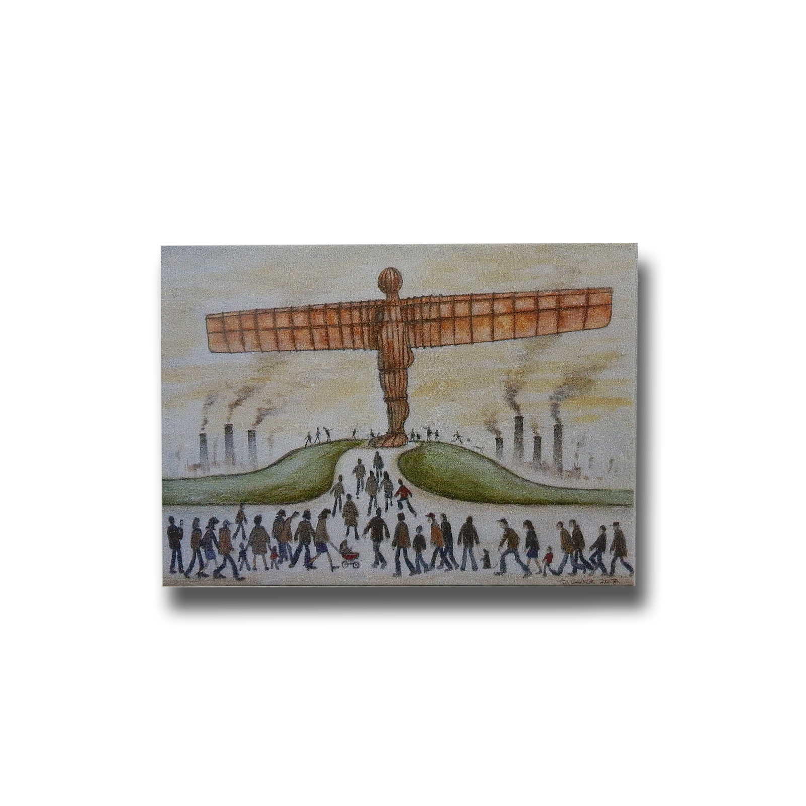 Lowry Style Angel of the North Premium Magnet