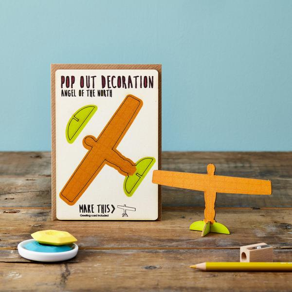 Pop Out 3D Angel of the North & Greetings Card