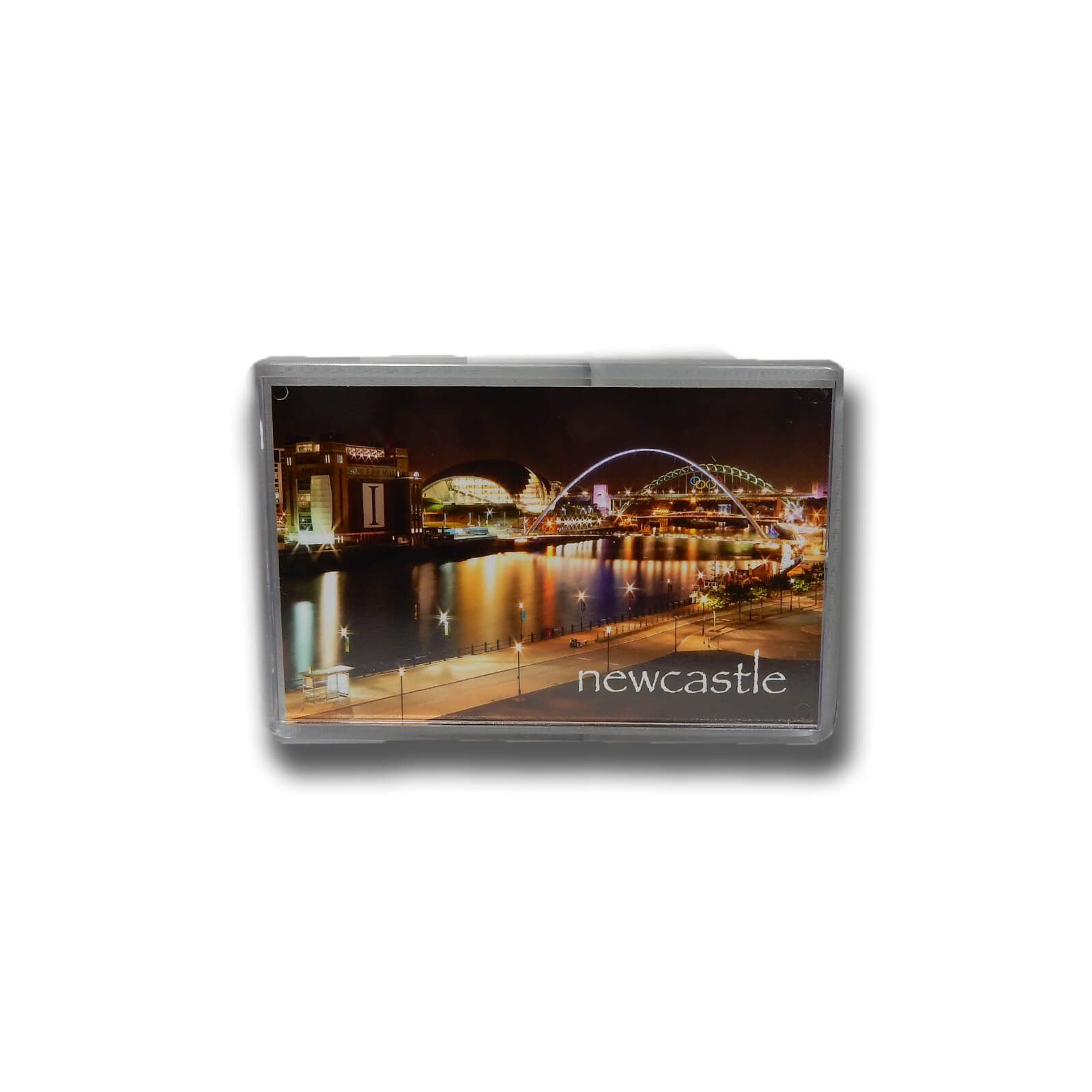 River Tyne & Quayside at Night Photo Magnet