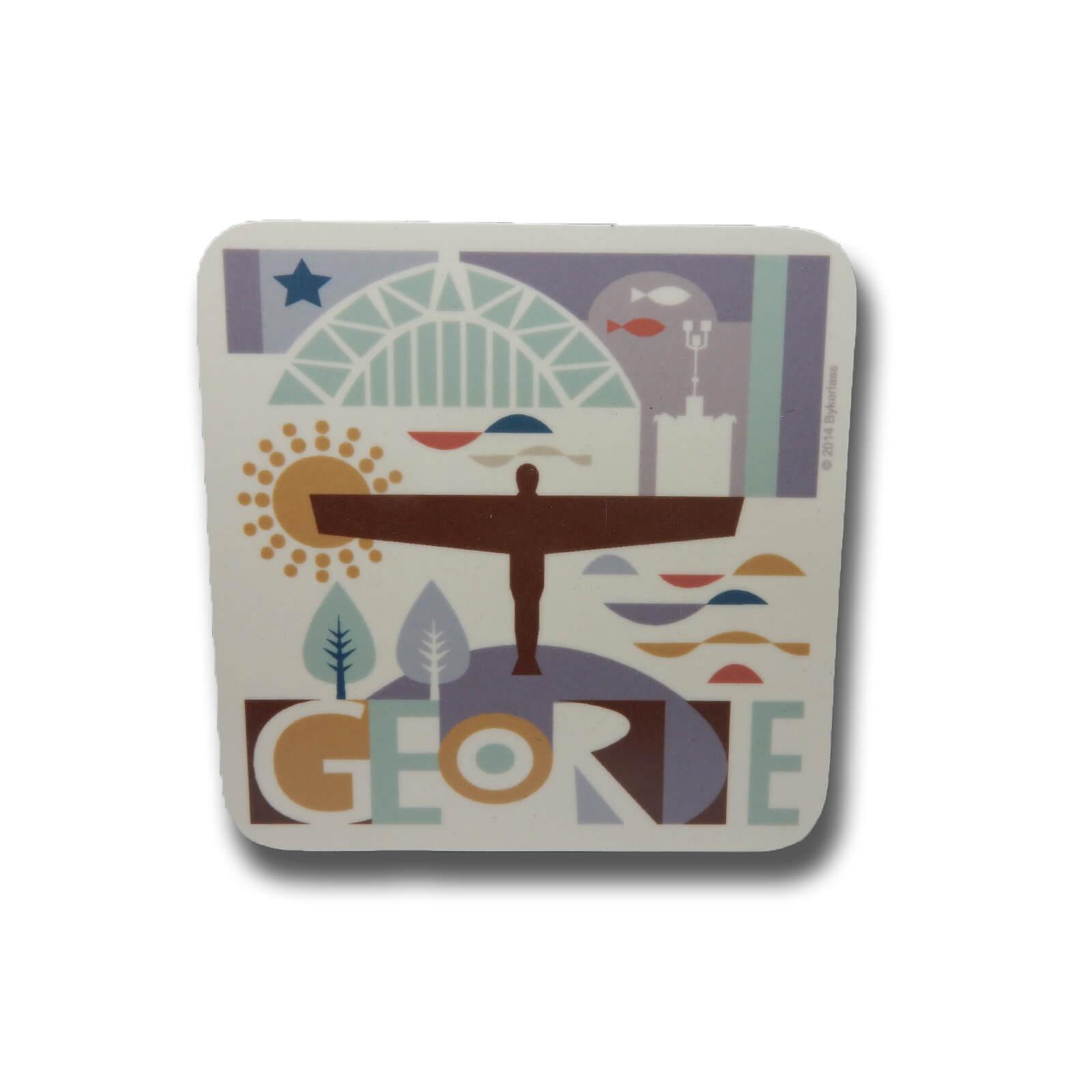 Local Landmarks Illustrated Coaster