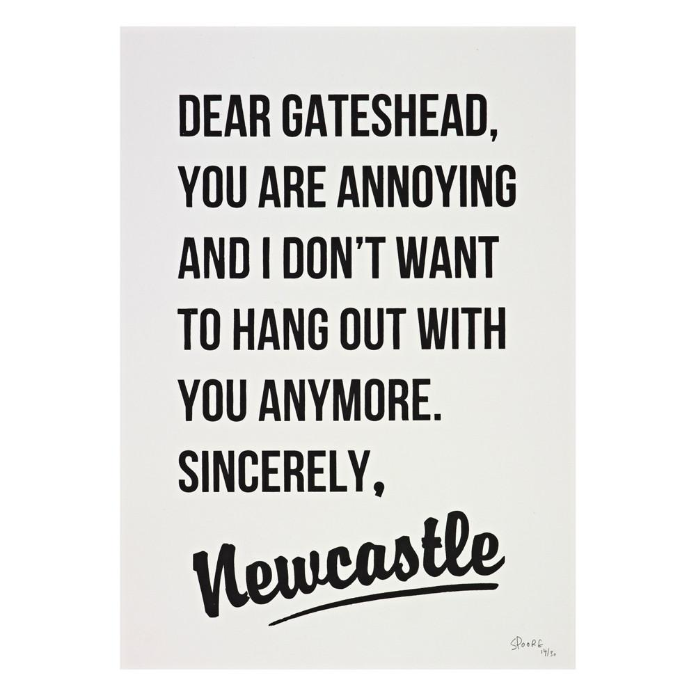 Dear Gateshead Framed Print