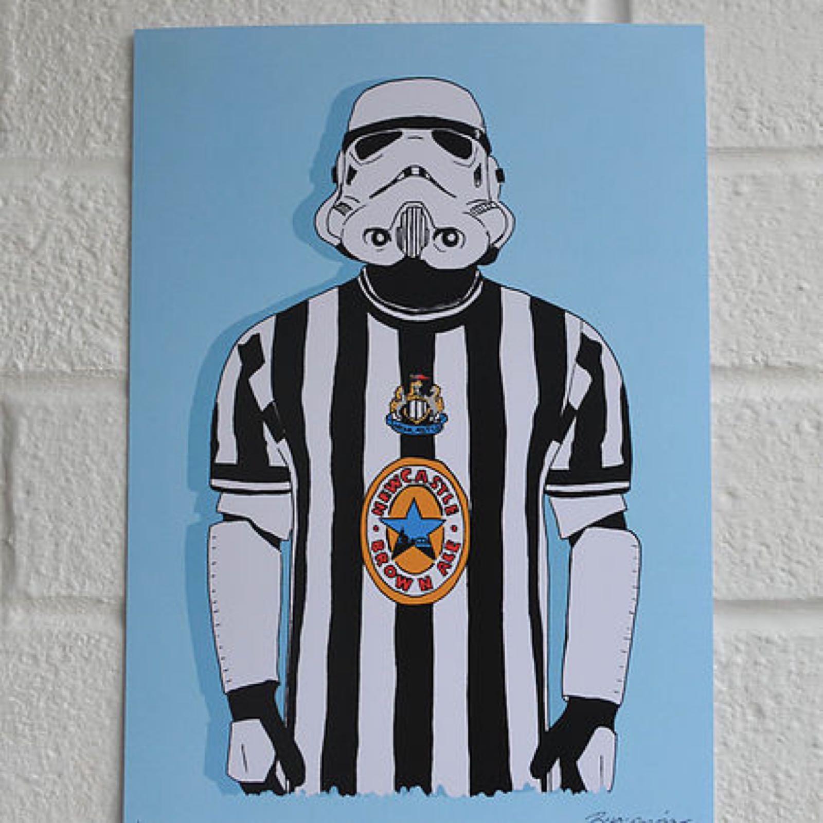 Geordie Trooper Card