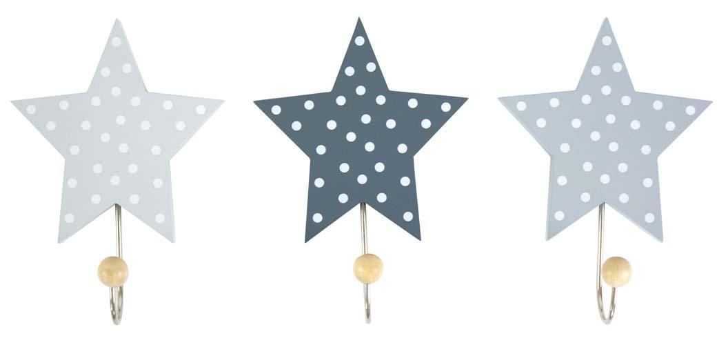 JaBaDaBaDo Kindergarderobe Garderobenhaken Sterne