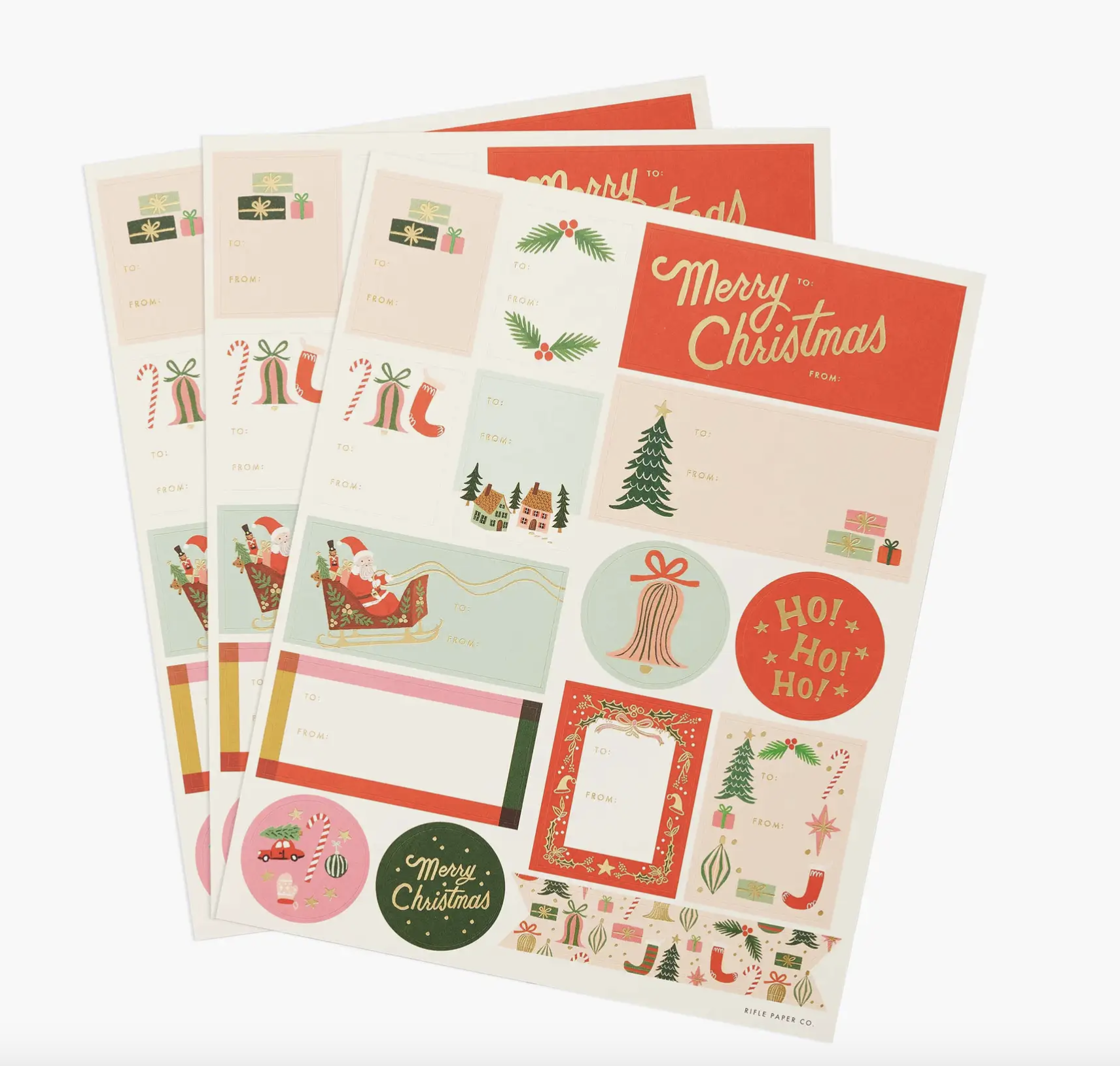 Deck the Halls Stickers & Labels