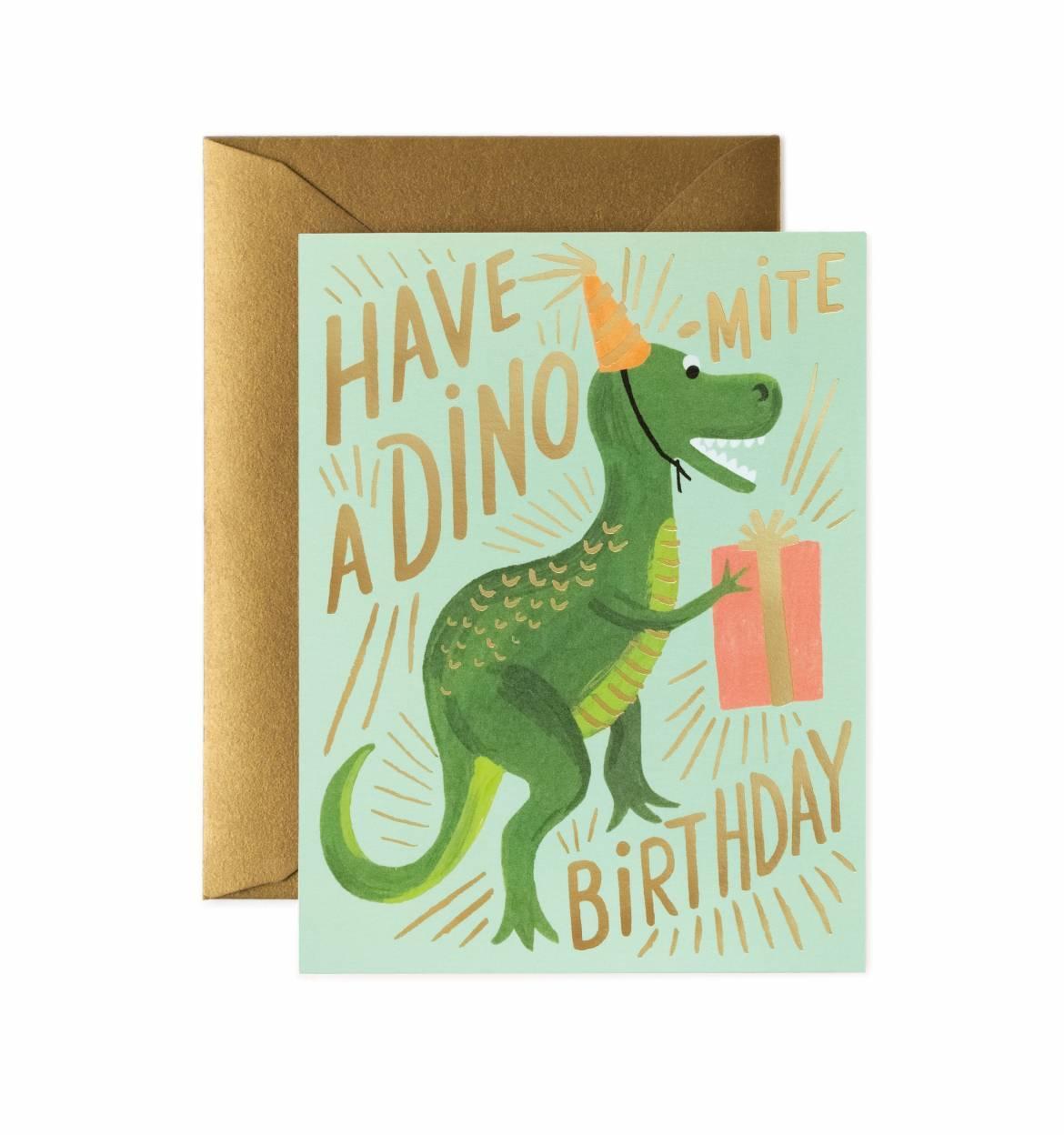 RIFLE - Dino-mite Birthday Card
