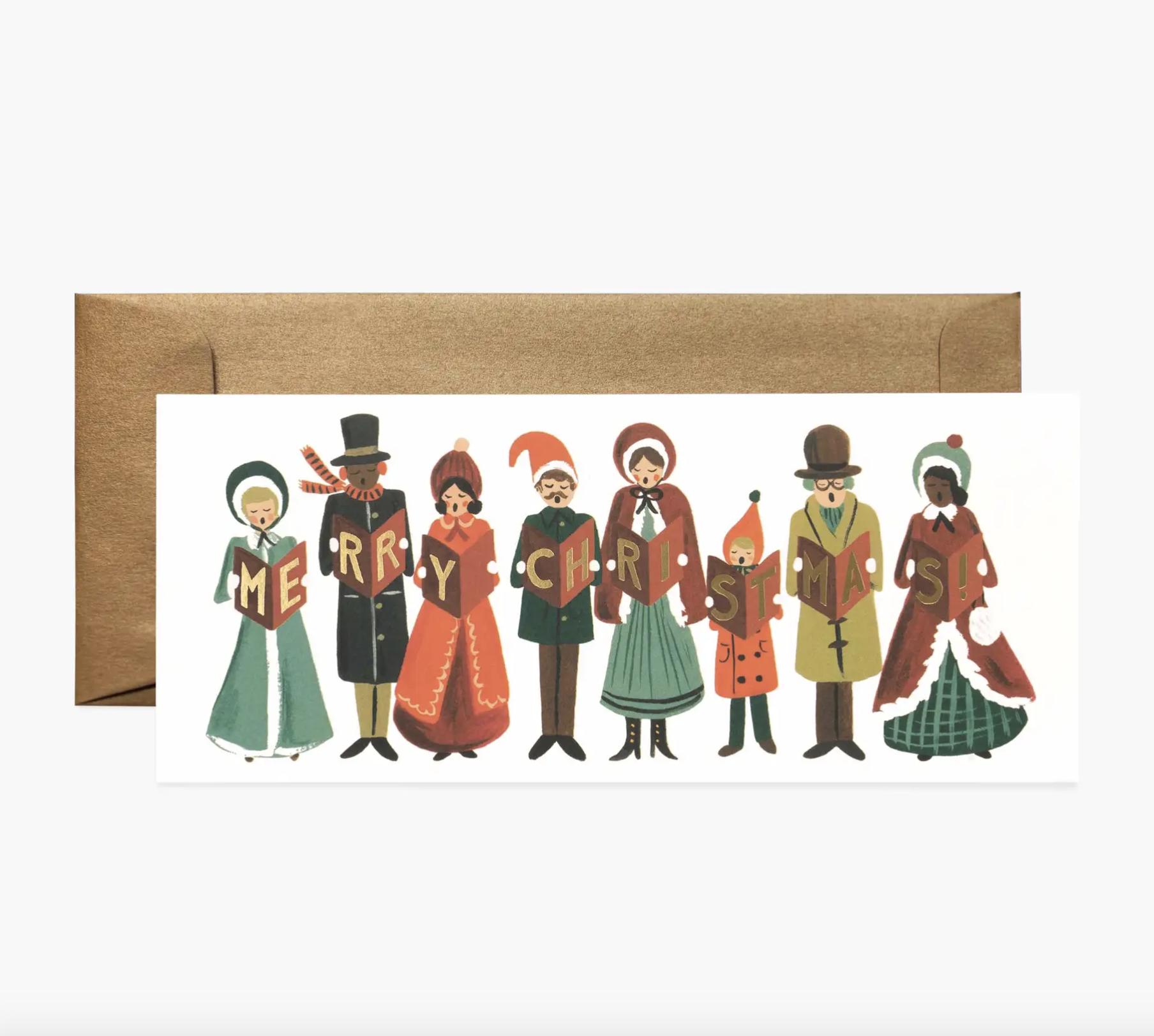 JULEKORT - Carolers Christmas Card