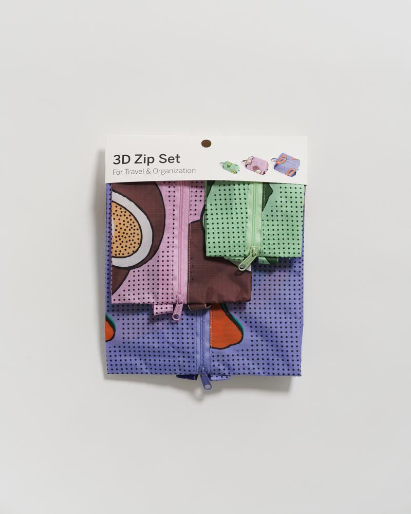 BAGGU - 3D Zip Set, Tropical Fruit