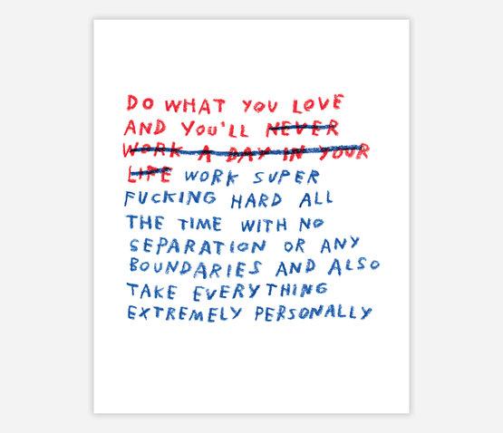 Adam J. Kurtz - Do What You Love Poster