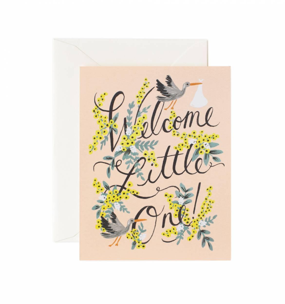 RIFLE - Kort, Welcome Little One m/stork