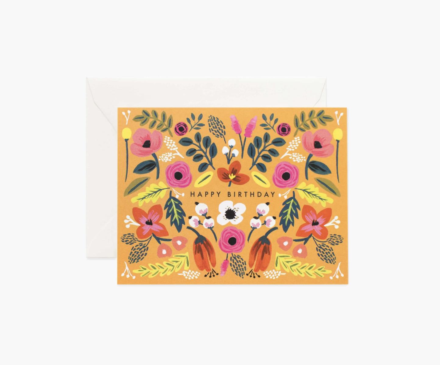 RIFLE - Kort, Folk Birthday Card