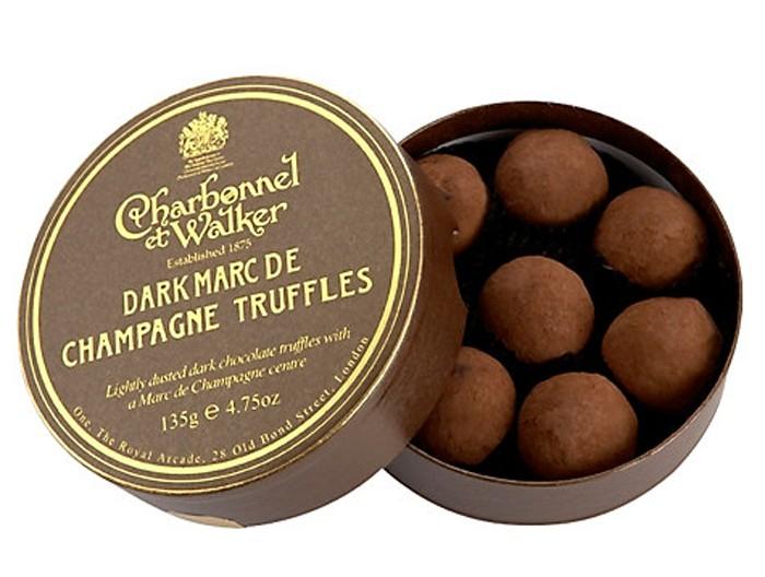 Charbonnel et Walker - Dark Marc De Champagne Truffles,  135g/8 pieces