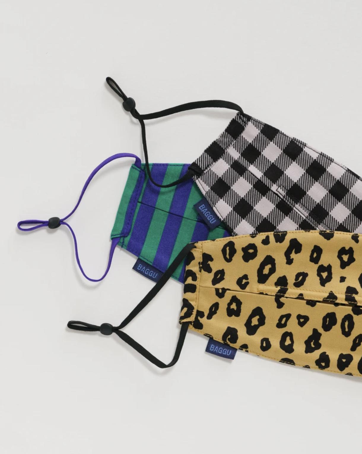 BAGGU - Loop Masks, Gingham, Leopard, Stripe