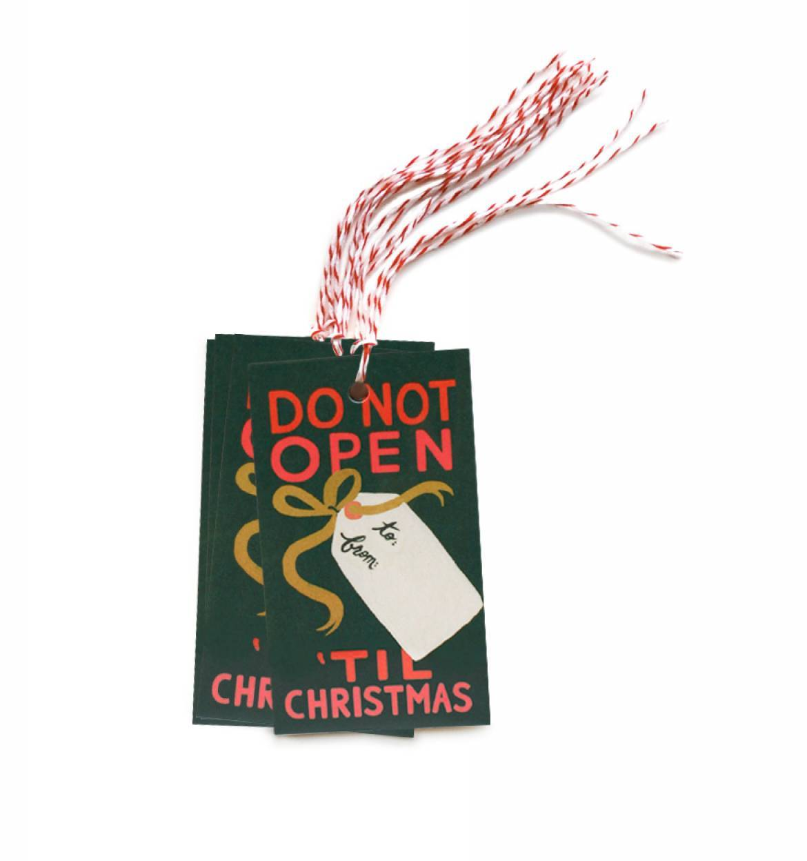 RIFLE - Do not open until christmas tags