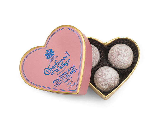 Charbonnel et Walker - Pink Himalayan Salted Caramel Mini Heart 3 pieces