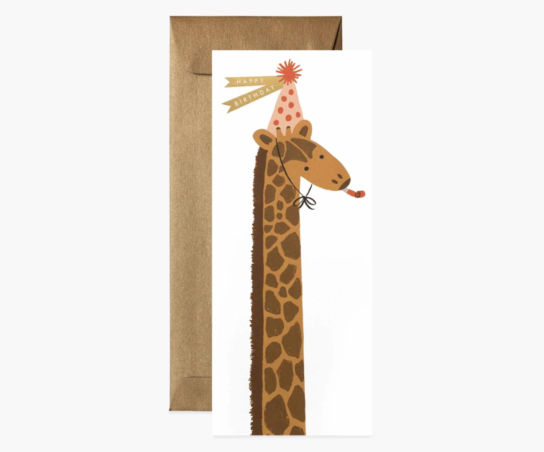 RIFLE - Kort, Giraffe birthday card