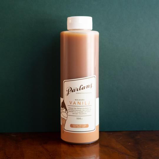 PÄRLANS - Karamellsaus på flaske 250 ml, Vanilje