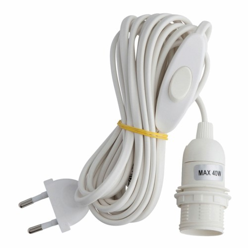 Electric Cord for Paper Star, white