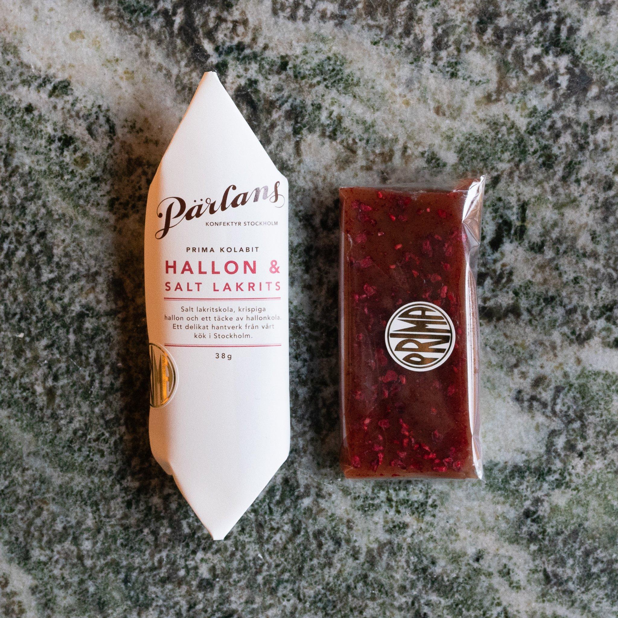 Pärlans - Kolabit, bringebær & salt lakris