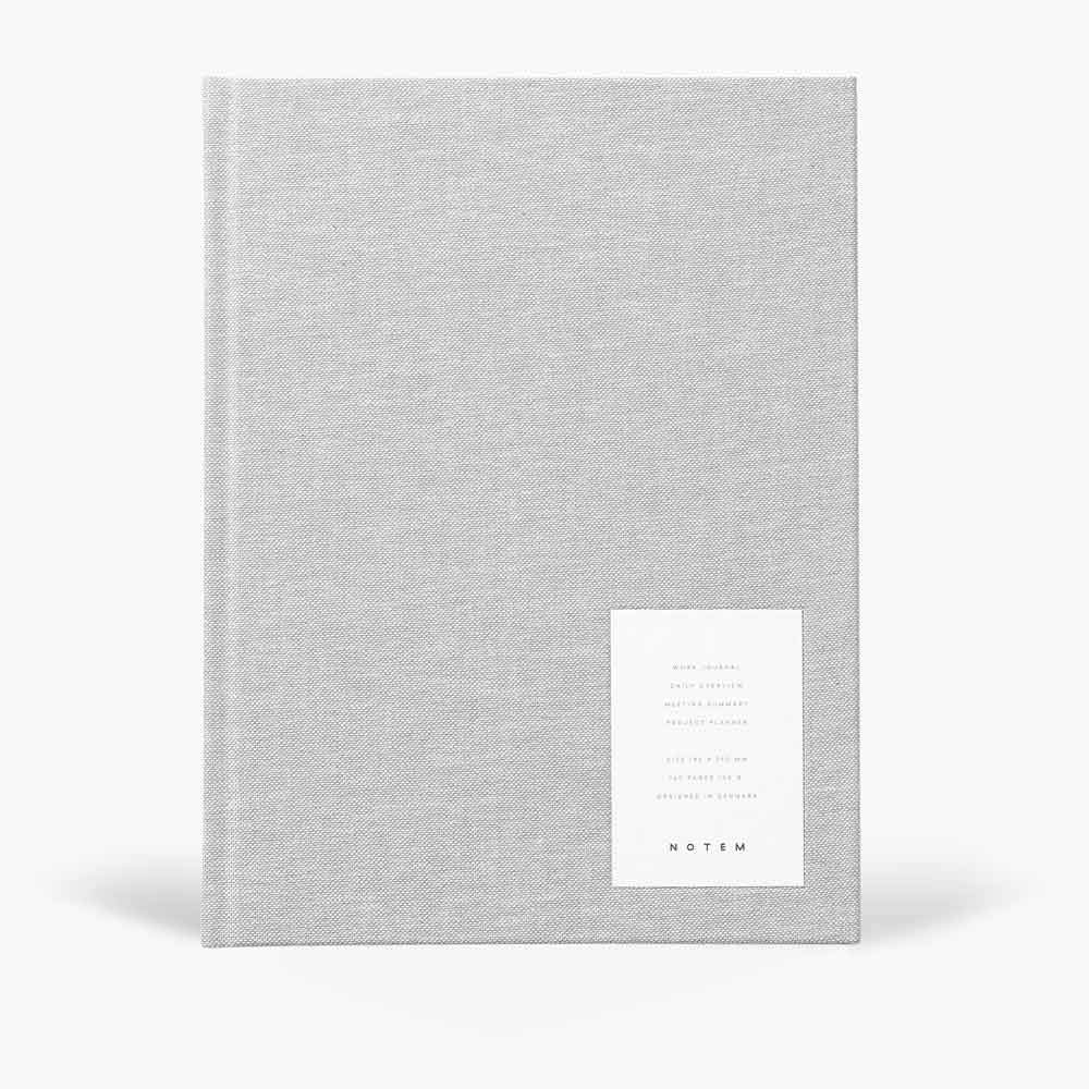 NOTEM - EVEN Work Journal, Large - Light Gray