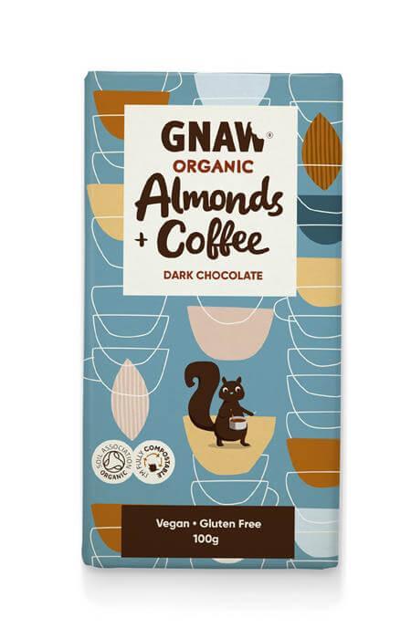 Gnaw - Almonds & Coffee dark chocolate
