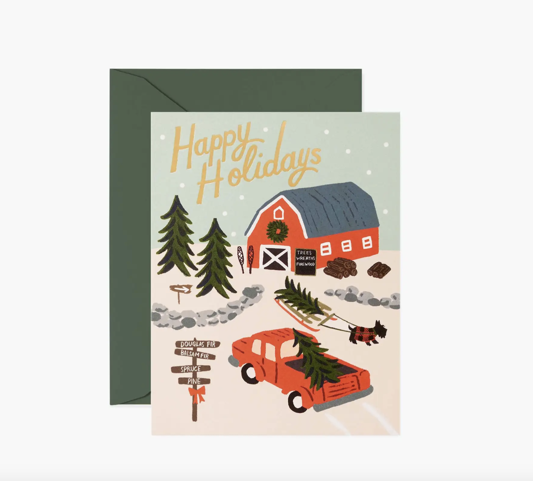 JULEKORT - Holiday Tree Farm Card