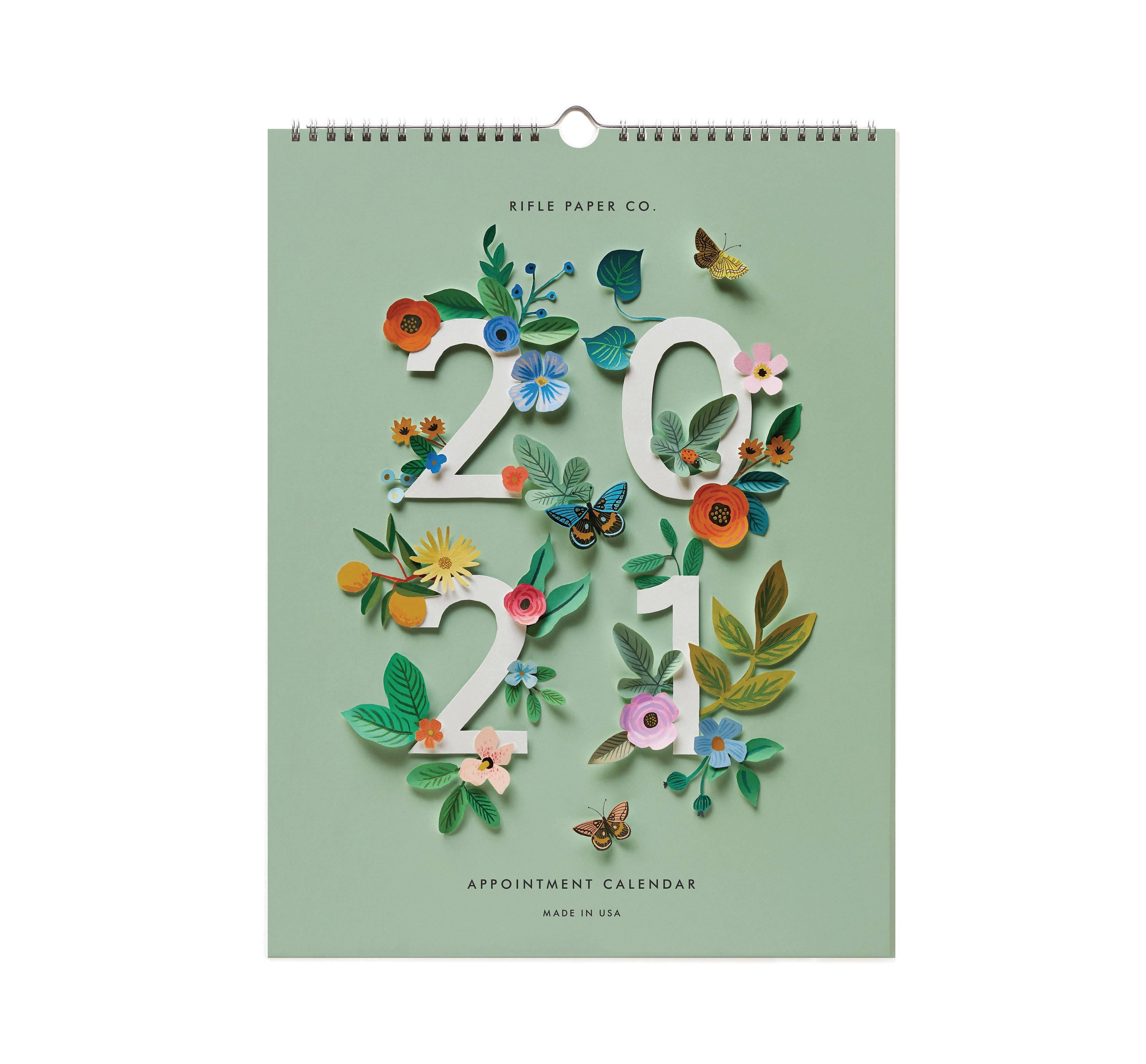 RIFLE - 2021 Cut Paper Appointment Calendar