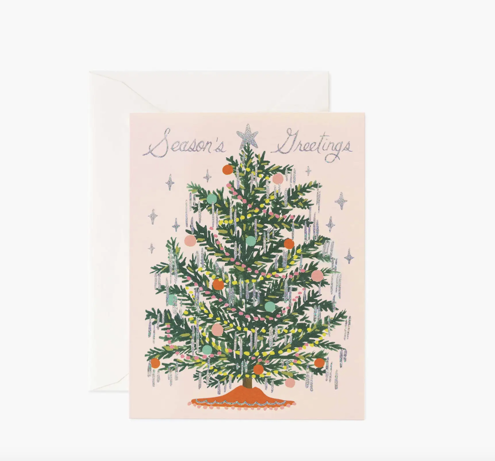 JULEKORT - Tinsel Tree Card