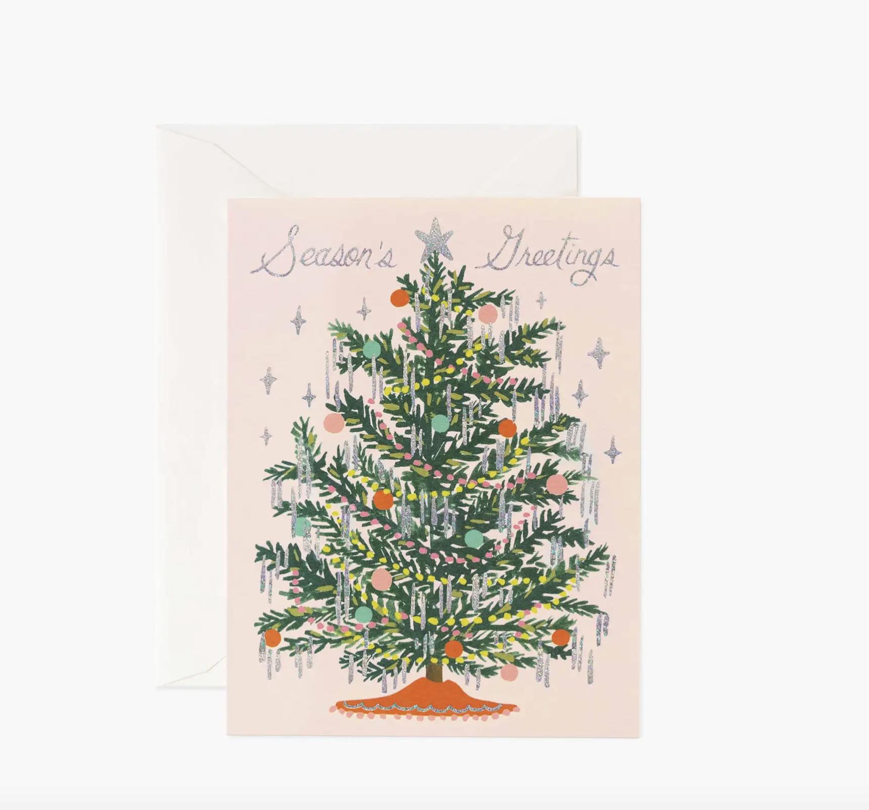 JULEKORT - Tinsel Tree Card
