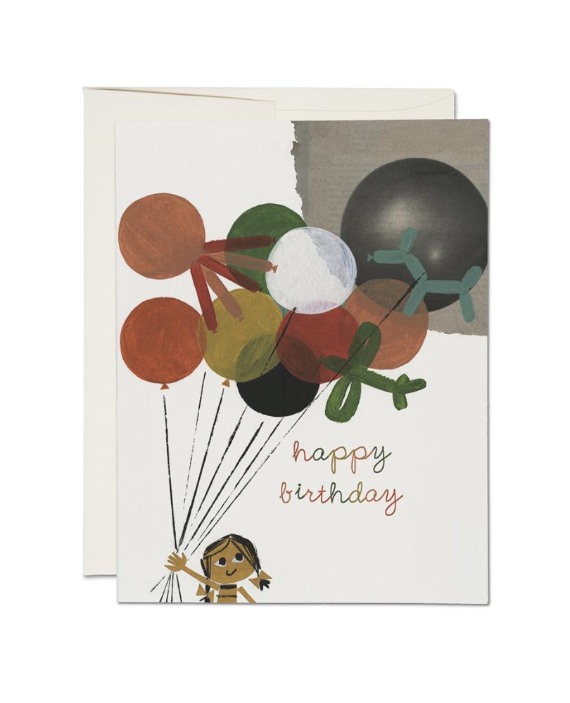 Haustsalg 40% - RED CAP - Kort, Birthday balloons