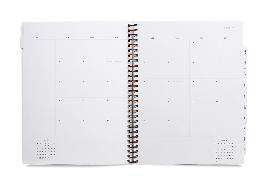 APPOINTED PRE-ORDER: 2021 YEAR TASK PLANNER DIARY IN LAVENDER GREY