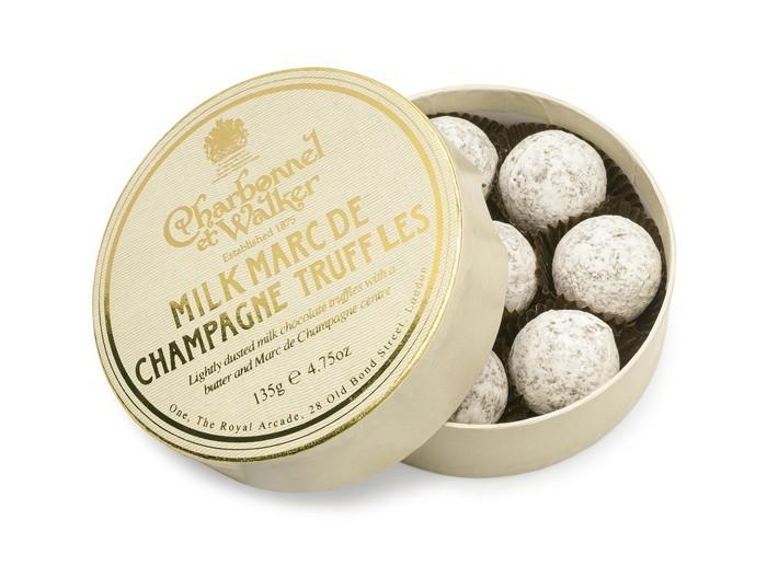 Charbonnel et Walker - Milk Marc De Champagne Truffles - 135g/8 pieces