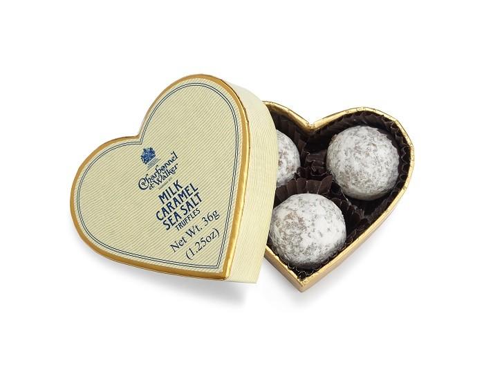 Charbonnel et Walker - Milk Sea Salt Caramel Truffle Mini Heart 3 pieces